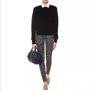 """MOTHER """"THE LOOKER"""" PAW/ANIMAL PRINT JEANS 25"""